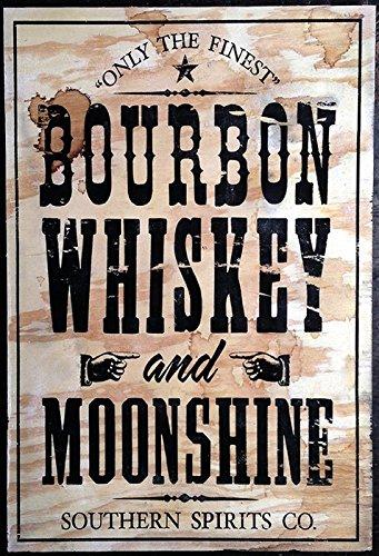Schatzmix metalen bord alcohol Bourbon Whiskey Moonshine metalen bord wanddecoratie 20x30 tin sign