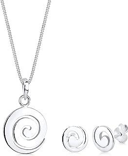 Elli Women Spiral 925 Sterling Silver Jewelry Set