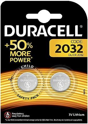 Duracell 2032 - Pilas especiales de botón de litio de 3V, DL2032/CR2032, diseñadas para uso en llaves con sensor magnético, básculas, elementos vestibles y dispositivos médicos, paquete de 2 unidades