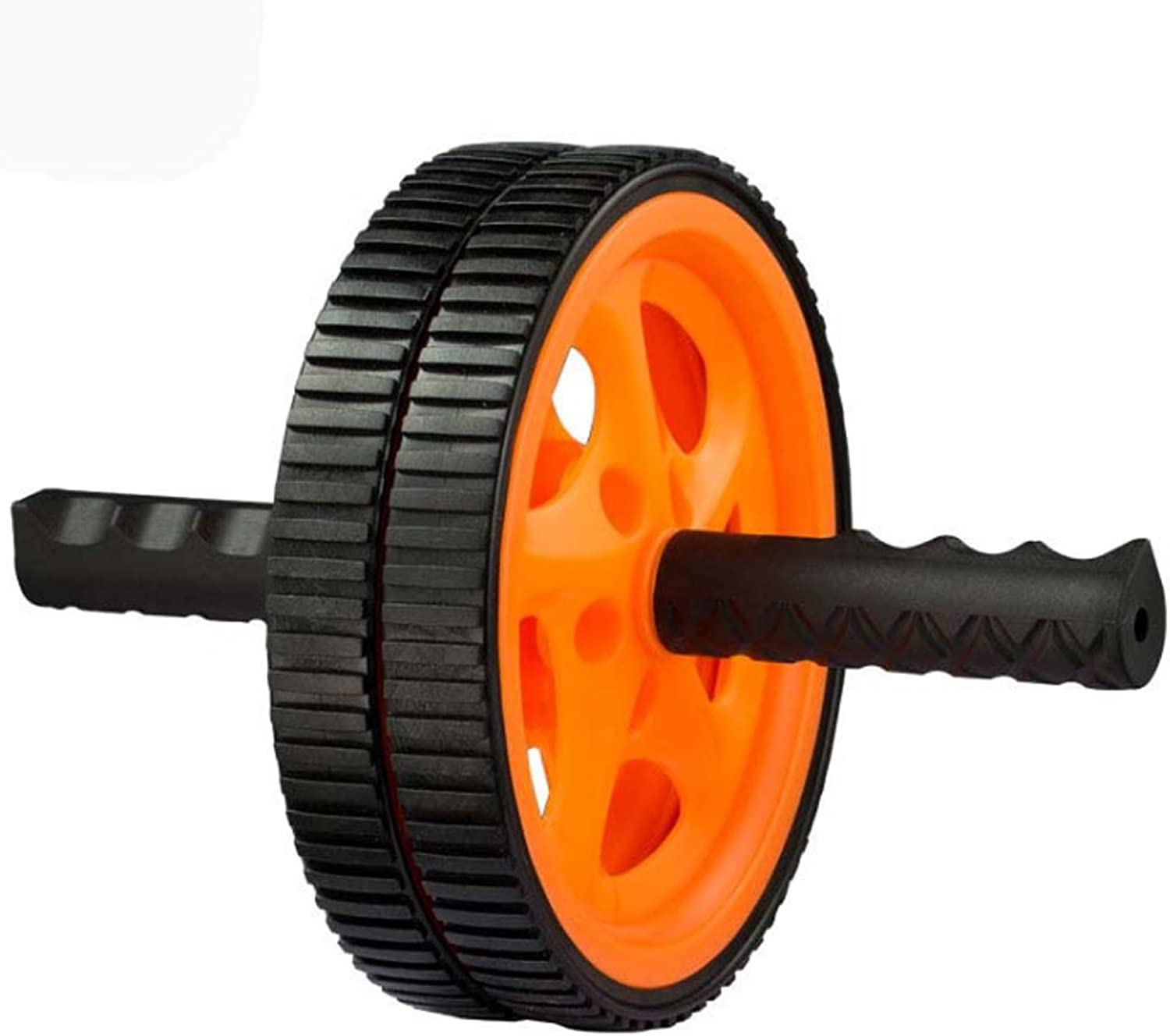 Ab Roller Wheel Abdominal Sports Roller, Double Wheel with Foam Handle Extra Knee pad AB Roller Exercise Abdominal Workout