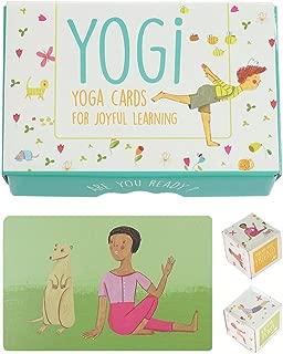 YOGI FUN Kids Yoga Cards Kit with Illustrations, Rhyming Poems, Birthday Activity and 2 DIY Dice