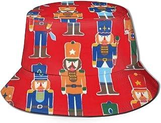 BUXI Printing Fisherman Hat,Cascanueces Ballet Toy Soldier Fishing Hat, Sombreros De Sol De Pesca Empacables para Acampar Al Aire Libre Pesca