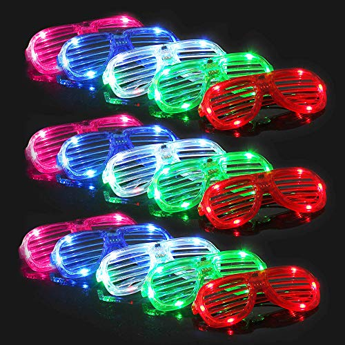 28 Pack Light Up Glasses,5 Color Glow in the Dark Party Supplies for Kids Adult Birthday Valentine's...