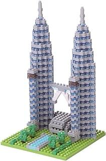 Nanoblock NBH–Mini Building Block 3D Puzzle Petronas Towers, Construction Toy