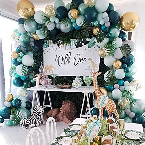 167pcs verde Globos Cumpleaños, Arco Para Globos. Para la fiesta de cumpleaños fiesta de la jungla boda baby baby shower graduación halloween, decoraciones para el hogar
