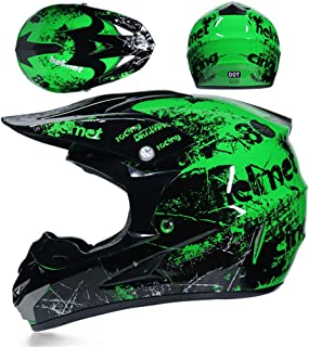 Motocross Motorcycle Helmet Downhill Full Face Helmet Mountain Bike,Gloves, Mask, with Goggles,Off Road.