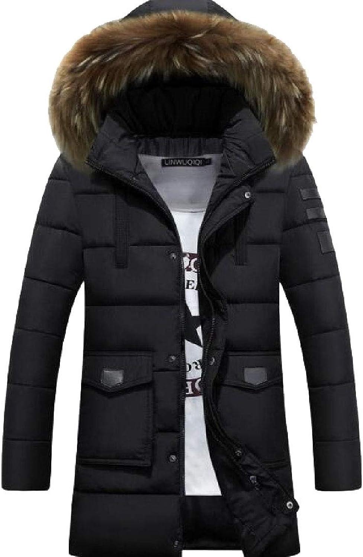 13502b4d6a2 LEISHOP Men's Winter Winter Winter Warm Puffer Down Jacket Fur Hood Outwear  Coat 288d33