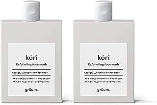 Grüum Kóri Gentle Exfoliating Face Wash Dup Pack, Orange, Eucalyptus & Witch Hazel Scent 2 x 120ml Duo