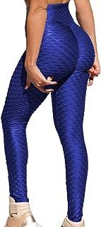 RIOJOY Leggings deportivos de 3/4 de longitud con textura de panal acanalado para mujer