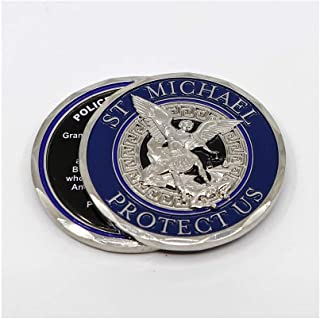 St Michael Protect Us Police Prayer Challenge Coin - Individual by PoliceTees