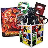 Super Hero Collection LookSee Box | Avengers Throw Blanket and Deadpool Black Panther Collectibles