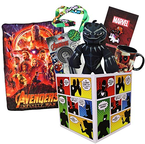 Super Hero Collection LookSee Box Avengers Throw Blanket Deadpool Black Panther