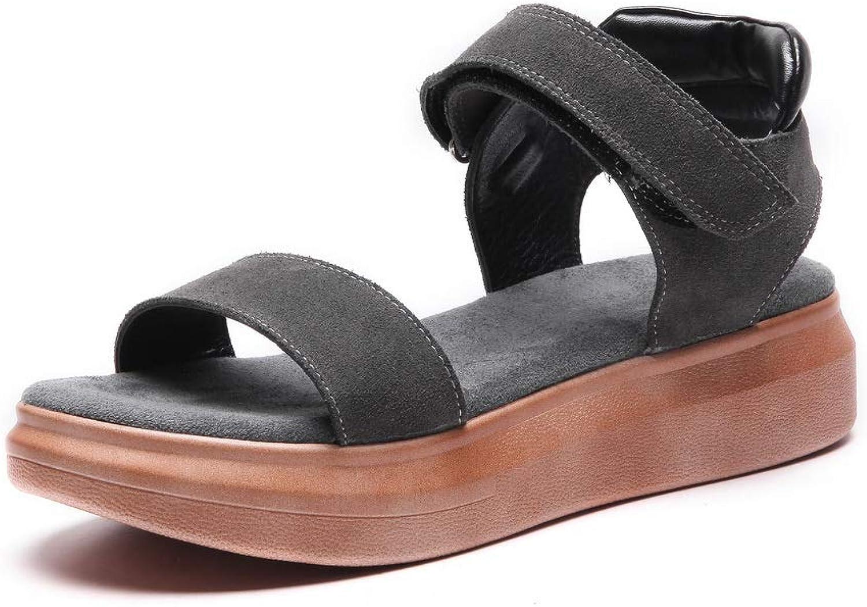 AN Womens Wedges Platform Nubuck Sandals DIU01256
