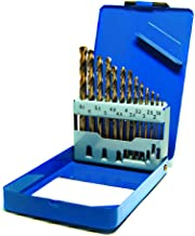 S&R HSS COBALTO - Juego de brocas,  Rectificadas para metal, DIN 338, acero aleado con cobalto, corte tipo C según DIN 1412, 135°, Caja metálica, 1.5- 6.5 mm, 13 unidades