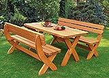 Design Holzgarnitur Holz Sitzgruppe Rainbach edel und stabil - 3