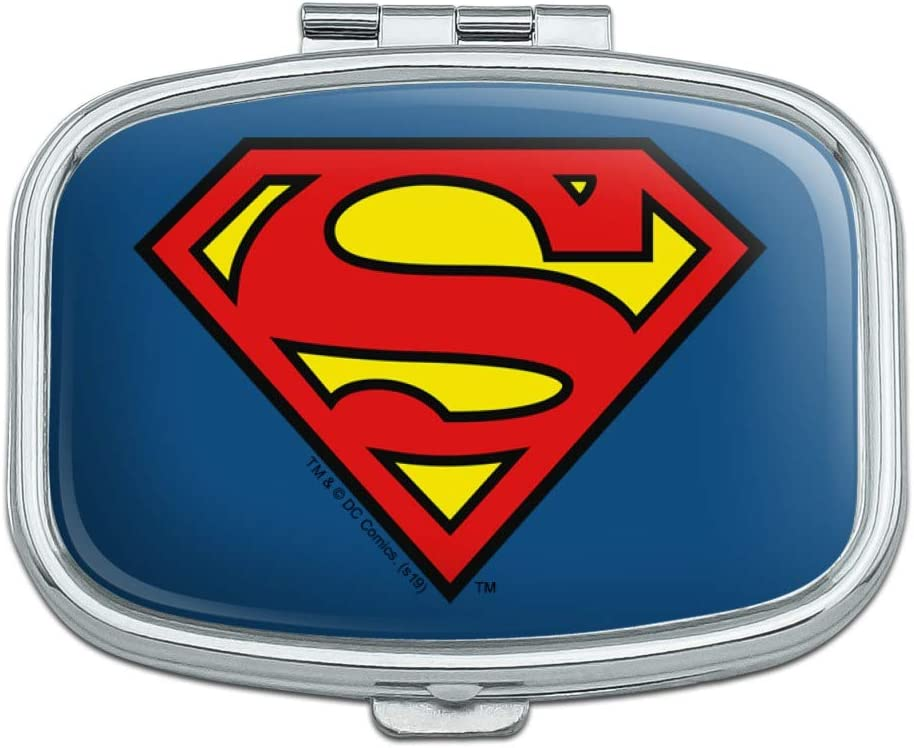 Houston Mall Superman Classic OFFicial S Shield Logo Gift Case Trinket Pill Rectangle