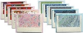 【Amazon.co.jp 限定】和紙かわ澄 友禅和紙 グリーティングカード 柄いろいろ 10セット