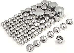 HTTMT MT247-004-CD Chrome Bolts Toppers Caps Compatible with 2000-2005 2006 Harley Davidson Softail Twin Cam