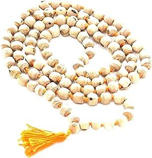 TULSI HOLY BASIL JAPA MALA 108 BEADS PRAYER NECKLACE. BLESSED & ENERGIZED 108 HINDU TIBETAN BUDDHIST PRAYER KARMA BEADS SU...