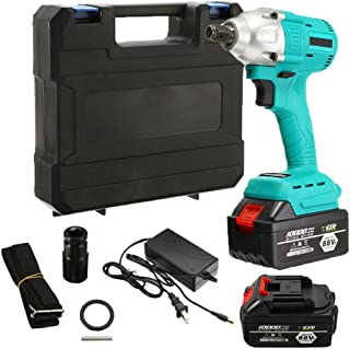 LKSDD Impact Wrench,88V Brushless Electric Screwdriver 10000Mah Battery Double Impact Speed Wireless Charging Rechargeable Electric Tapping Drill Power Tool,88v2batteries