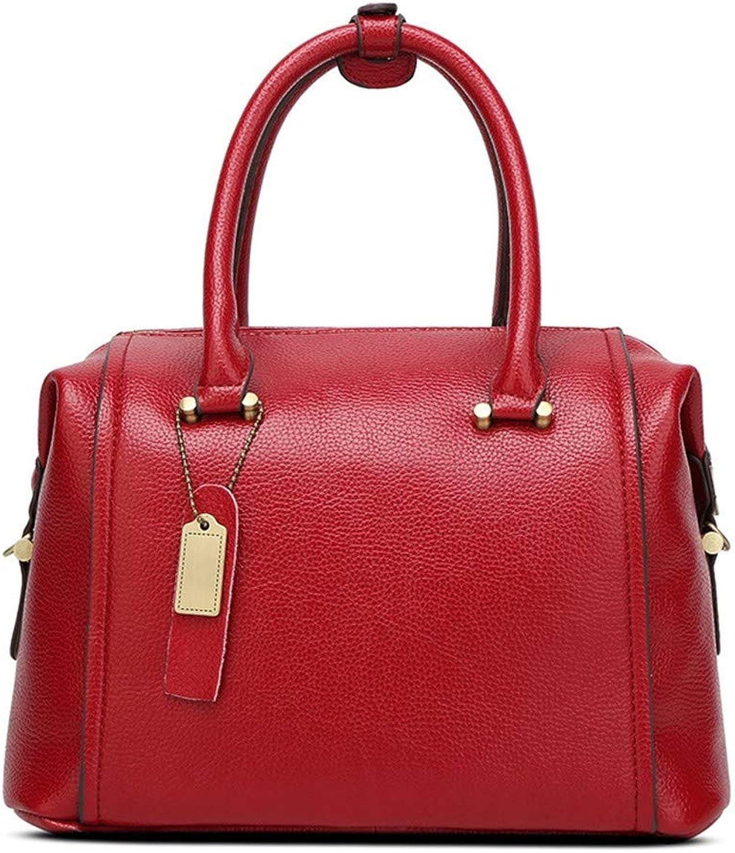 NZZNB European Fashion Ladies Handbag Large Capacity Soft Leather Shoulder Bag Solid color Multi-Pocket Satchel Square Pendant Tote Purse Top-Handle Handbags