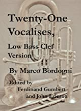 Twenty-One Vocalises, Low Bass Clef Version