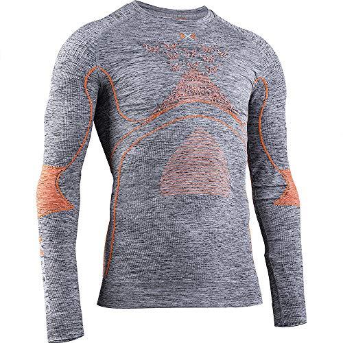X-BIONIC Energy Accumulator 4.0 Melange T-Shirt à Manches Longues et col Rond pour Homme XXL Mélange de Gris/Orange.