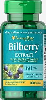 Puritan's Pride 碧莓水果标准提取物 60 毫克 - 100 粒胶囊