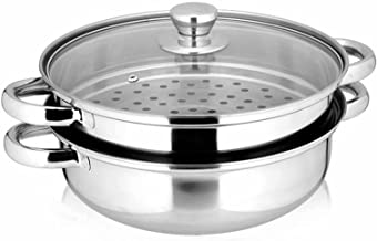دیگ بخار استیل و قطعات بخار دیگ بخار Yamde 2 Piece - و Lid ، Steamer Saucepot