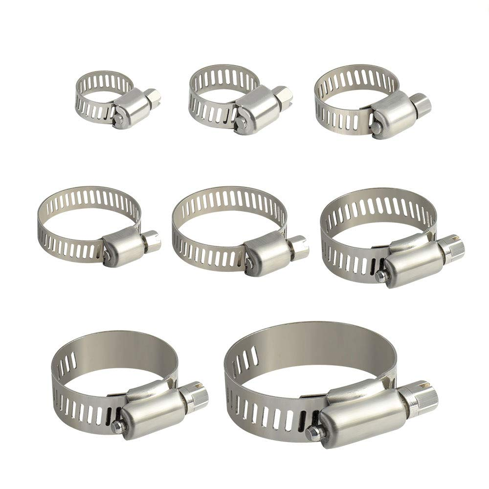 20Pcs 13mm-19mm DIN3017 Adjustable Stainless Steel Worm Drive Hose Clamp//NANDEYIBI Drive Pipes//Connection Fittings for Home Gas Pipe//Car//Tractor//Locomotive//Ship