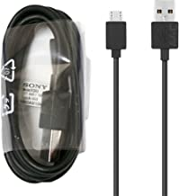 Sony Genuine Negro EC803 Xperia Micro USB Cable de Datos para Xperia X XA X Rendimiento Z5M4M5Z4Z3Z2Compact Premium Xperia Micro USB Puertos (no Embalaje al por Menor)