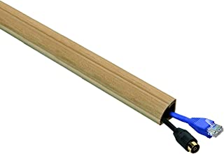 D-Line Quarter Round Cable Raceway Cord Cover Floor Trim   Stainable Wood Effect   5 Foot 0.87