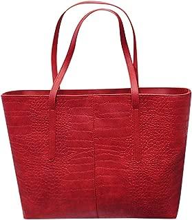 Vielgluck_Bag Women Large Capacity Tote Bag, Big Leather Shoulder Bags Teacher Laptop Handbag