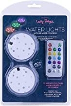 Submersible RGB LED Lights w/ Remote Control Pool Spa Pond Water 2pc Reusable Lazy Dayz