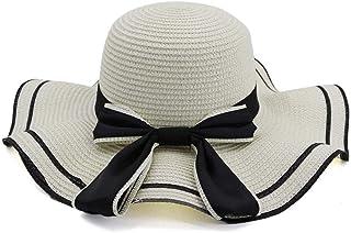 2019 Mens Womens Hats Womens Summer Sun Hat for Womens Straw Hat Summer Seaside Holiday New Sunshade Beach Big Along Hat Bow Sunscreen Fedora Lady Fashion Casual Lightweight