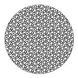 Coloray Tabla De Cortar Placa De Induccion ⌀ 40 cm Protector Para Servir Platos Cocina Vidrio Templado - Geométrico Blackminalistic