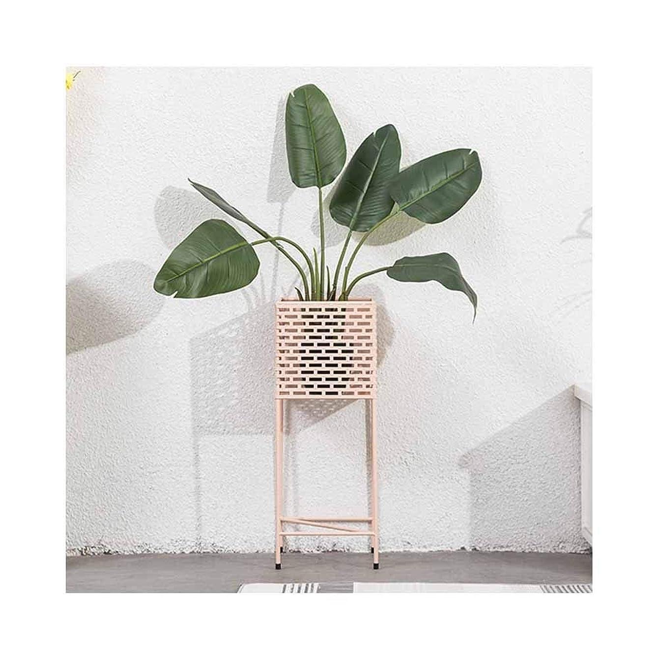 封建スキャンダル声を出して多機能フラワースタンド、北欧モダンミニマリストのリビングルームの植物スタンドシェルフを収納可能 (Color : Pink)
