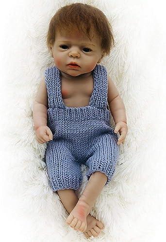 LUCKYFANWU Simulationspuppe, realistische wiedergeborene Puppe, Baby, 22inch, kann Sich setzen, kann Sich hinlegen, kann das Wasser betreten, Babybegleiterspielwaren, Jungenmädchenspielwaren