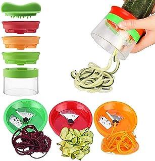 Jasonwell Vegetable Slicer Spiral Kitchen Kitchen Veggie Grater Slicer with Stainless Steel Blades