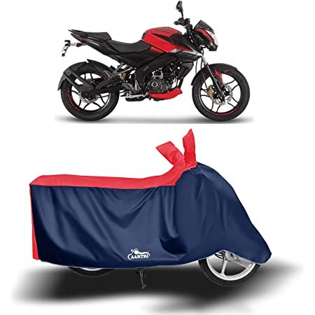 Blue Tree Waterproof Bike Body Cover For Pulsar NS-160 In Standard Size In Black Colour
