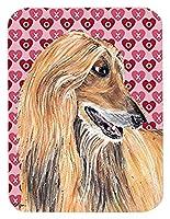 Caroline's Treasures Afghan Hound Hearts Love & Valentine's Day Mouse Pad/Hot Pad/Trivet (SC9503MP) [並行輸入品]