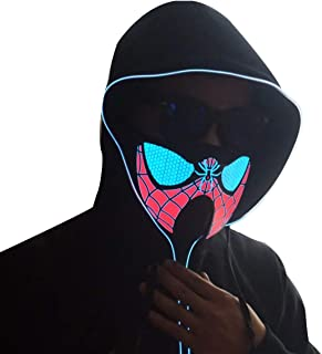 LED Music Mask, Sound Reactive Mask to The Music at Festivals & Parties