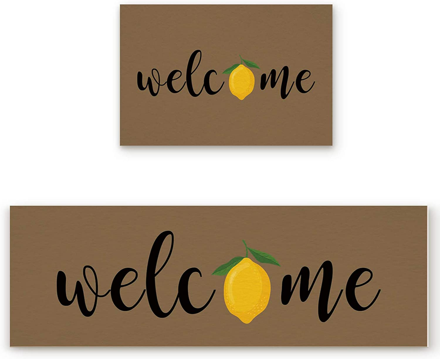 Home Collection dh Kitchen Doormat Lemon Summer Welcome New mail Max 44% OFF order 2 Piece