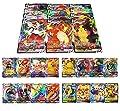 RULY Cartas Coleccionables De Pokemon, 100 Piezas (40 VMAX-Cartas+60 V-Cartas) Cartas de Pokémon, Cartas de Pokémon GX Mega, Cartas de Memoria Flash de Pokémon, Regalos para niños de RULY