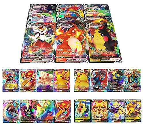 RULY Cartas Coleccionables De Pokemon, 100 Piezas (40 VMAX-Cartas+60 V-Cartas) Cartas de...