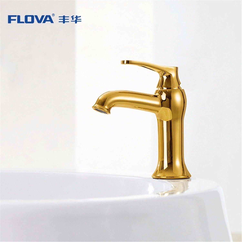 Bijjaladeva Wasserhahn Bad Wasserfall Mischbatterie Waschbecken WaschtischDie Verkupferten Antique Gold heien und Kalten Becken Faucet Single Loch Waschtisch Armatur Waschbecken