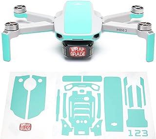 Wrapgrade Skin kompatibel med DJI Mini 2 | Accentfärg (MINT BLUE)
