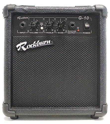 Rockburn BC-10S-BK amp 10 Watt Guitar Amplifier with Headphone Output