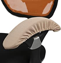 Enerhu Stretch Armrest Cover Computer/Office/Rotating Chair Armrest Slipcover Pure Color Khaki
