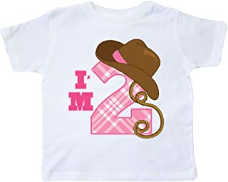2nd Birthday 2 Year Old Cowgirl Hat Toddler T-Shirt